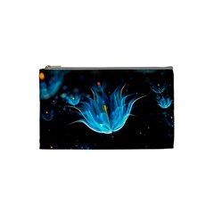 Abstraction Light Neon Glitter  Cosmetic Bag (small)