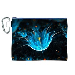 Abstraction Light Neon Glitter  Canvas Cosmetic Bag (xl)