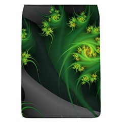 Abstraction Embrace Fractal Flowers Gray Green Plant  Flap Covers (s)