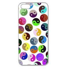 Multi Ying Yang Apple Seamless Iphone 5 Case (clear)