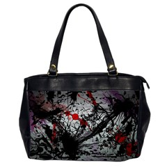 Black & Red Mess Office Handbags (2 Sides)