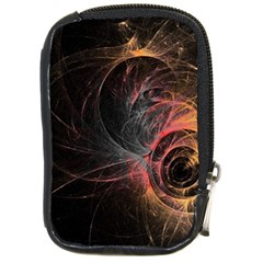 Circles Lines Spots Background Colorful Wreath  Compact Camera Cases