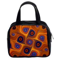 Lines Patterns Background  Classic Handbags (2 Sides)