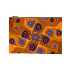 Lines Patterns Background  Cosmetic Bag (large)