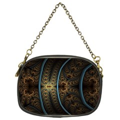 Lines Dark Patterns Background Spots  Chain Purses (one Side)