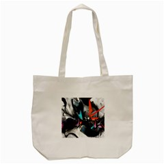 Lines Spray Brush Paint Color  Tote Bag (cream)