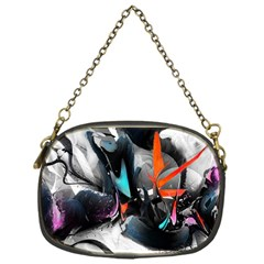 Lines Spray Brush Paint Color  Chain Purses (one Side)