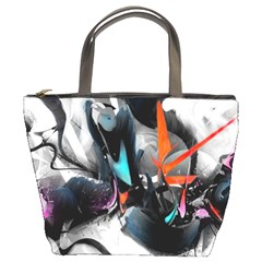 Lines Spray Brush Paint Color  Bucket Bags