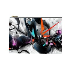 Lines Spray Brush Paint Color  Cosmetic Bag (large)