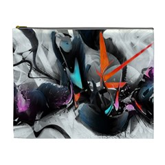 Lines Spray Brush Paint Color  Cosmetic Bag (xl)