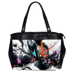 Lines Spray Brush Paint Color  Office Handbags (2 Sides)