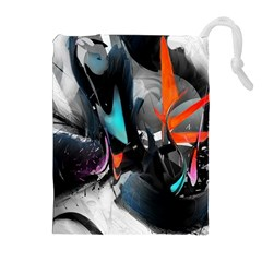 Lines Spray Brush Paint Color  Drawstring Pouches (extra Large)
