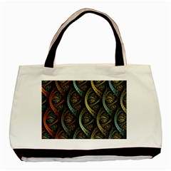 Line Semi Circle Background Patterns  Basic Tote Bag (two Sides)