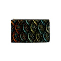 Line Semi Circle Background Patterns  Cosmetic Bag (small)