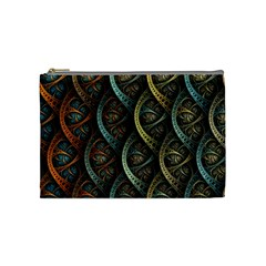 Line Semi Circle Background Patterns  Cosmetic Bag (medium)