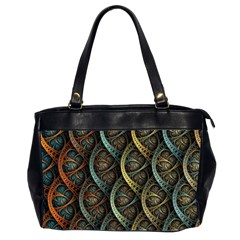 Line Semi Circle Background Patterns  Office Handbags (2 Sides)