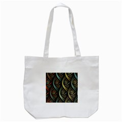 Line Semi Circle Background Patterns  Tote Bag (white)