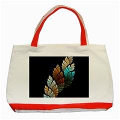Sheet Shape Shadow  Classic Tote Bag (red)