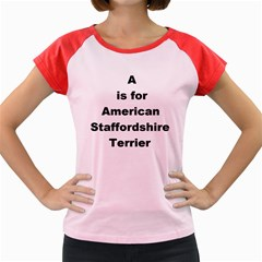 A Is For American Staffordshire Terrier Women s Cap Sleeve T Shirt