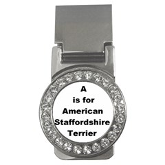 A Is For American Staffordshire Terrier Money Clips (cz)