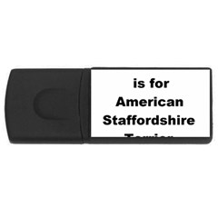 A Is For American Staffordshire Terrier Rectangular Usb Flash Drive