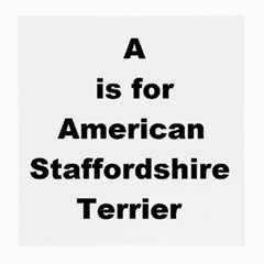A Is For American Staffordshire Terrier Medium Glasses Cloth (2 Side)