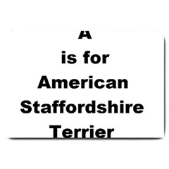 A Is For American Staffordshire Terrier Large Doormat