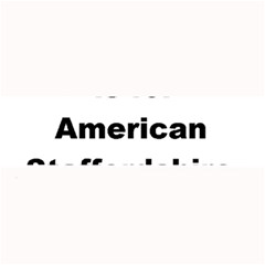 A Is For American Staffordshire Terrier Large Bar Mats