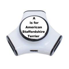 A Is For American Staffordshire Terrier 3 Port Usb Hub