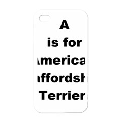 A Is For American Staffordshire Terrier Apple Iphone 4 Case (white)