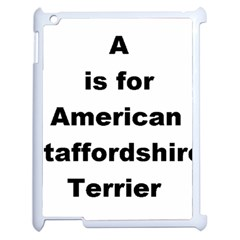 A Is For American Staffordshire Terrier Apple Ipad 2 Case (white)