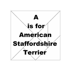A Is For American Staffordshire Terrier Acrylic Tangram Puzzle (4  X 4 )