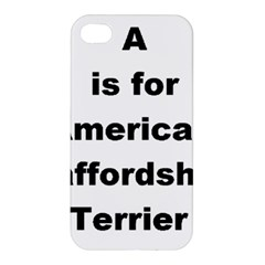 A Is For American Staffordshire Terrier Apple Iphone 4/4s Premium Hardshell Case