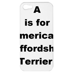 A Is For American Staffordshire Terrier Apple Iphone 5 Hardshell Case