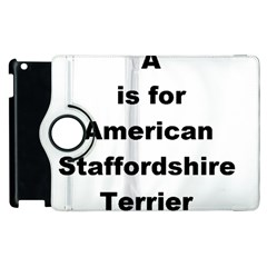 A Is For American Staffordshire Terrier Apple Ipad 3/4 Flip 360 Case