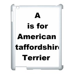 A Is For American Staffordshire Terrier Apple Ipad 3/4 Case (white)