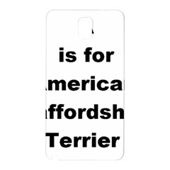 A Is For American Staffordshire Terrier Samsung Galaxy Note 3 N9005 Hardshell Back Case