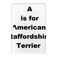 A Is For American Staffordshire Terrier Samsung Galaxy Tab Pro 12 2 Hardshell Case