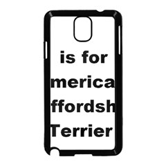 A Is For American Staffordshire Terrier Samsung Galaxy Note 3 Neo Hardshell Case (black)