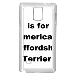 A Is For American Staffordshire Terrier Samsung Galaxy Note 4 Case (white)