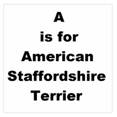 A Is For American Staffordshire Terrier Large Satin Scarf (square)