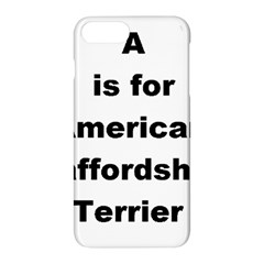 A Is For American Staffordshire Terrier Apple Iphone 7 Plus Hardshell Case