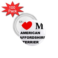 American Staffordsdhire Terrier Love 1 75  Buttons (100 Pack)