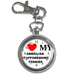 American Staffordsdhire Terrier Love Key Chain Watches