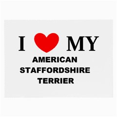 American Staffordsdhire Terrier Love Large Glasses Cloth