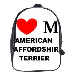 American Staffordsdhire Terrier Love School Bag (large)