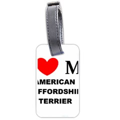 American Staffordsdhire Terrier Love Luggage Tags (two Sides)