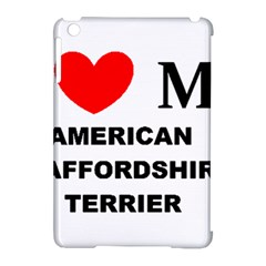 American Staffordsdhire Terrier Love Apple Ipad Mini Hardshell Case (compatible With Smart Cover)