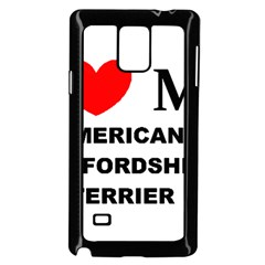 American Staffordsdhire Terrier Love Samsung Galaxy Note 4 Case (black)