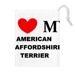 American Staffordsdhire Terrier Love Drawstring Pouches (extra Large)